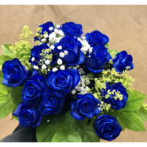 15 Blue Rose Bouquet